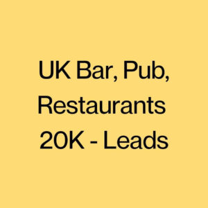 UK Bar, Pub, Restaurants 20K Leads (1)